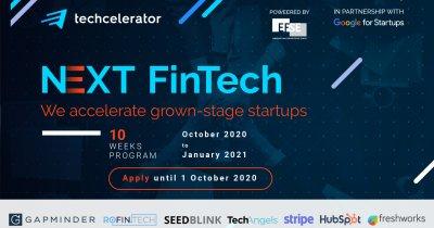 Techcelerator: înscrieri în programul de accelerare. Focus pe fintech-uri