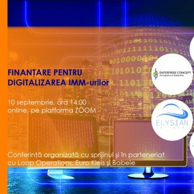 IMM-urile pot accesa 100.000 de euro pentru digitalizare. Află cum pe 10 sept.