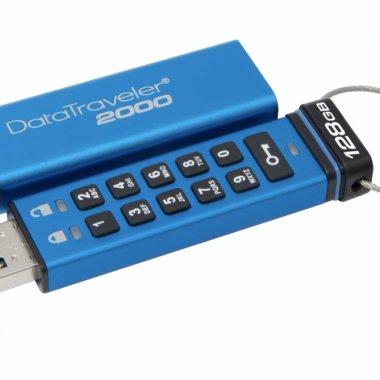 DataTraveler 2000 - stocarea criptată de cod PIN cu o capacitate de 128 de GB