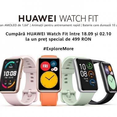 HUAWEI WATCH FIT - cel mai recent smartwatch de fitness, disponibil în România