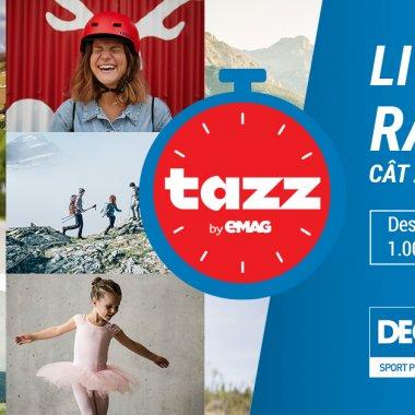 Tazz by eMAG și Decathlon, parteneriat pentru cumpărături sportive la distanță
