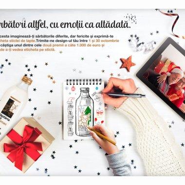 Lăptăria cu caimac: concurs cu premii pentru etichete speciale de Crăciun