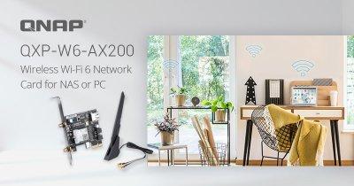 QNAP lansează placa de rețea QXP-W6-AX200 dual band Wi-Fi pentru NAS și PC