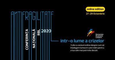 """Leadership în criză: Conferința RBL despre """"Antifragilitate"""" pe 27-29 octombrie"""