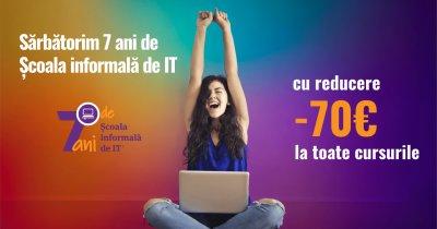 7 ani de Școala informală de IT: Discount de 70 euro la orice curs de IT