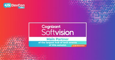 Cognizant Softvision - Main Partner la DevCon Live 2020