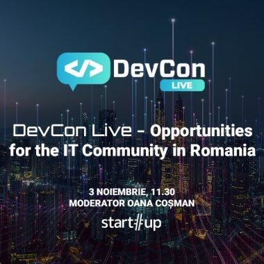 LIVE VIDEO Tendințe și viitorul IT-ului în România la DevCon Live