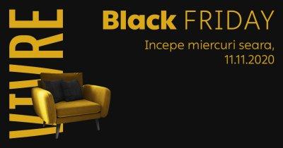 Black Friday 2020 la Vivre, în seara de 11 noiembrie. Reduceri de până la 90%