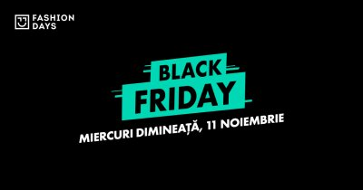 Black Friday 2020 la Fashion Days pe 11-13 noiembrie: stoc de 200 mil. lei