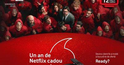 Un an de Netflix gratuit - cea mai nouă ofertă Vodafone