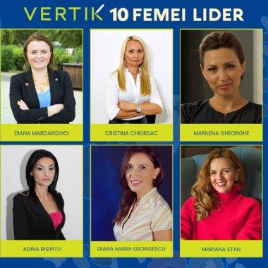 VERTIK a selectat 10 Femei Lider cu experiență profesională cumulată de 200 de ani