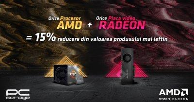 PC Garage oferă 15% reducere la achiziţie de procesor AMD și placă video Radeon