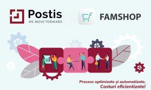 Postis, parteneriat cu FamShop pentru automatizarea proceselor de eCommerce