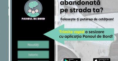 Panoul de Bord, aplicația care te ajută să raportezi mașini abandonate în oraș
