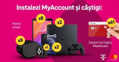 Premii pentru abonații Telekom Romania care folosesc aplicația MyAccount