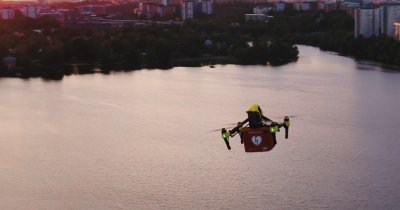 Vodafone și Ericsson au testat livrarea cu drona în Germania