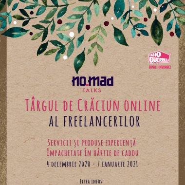 Târgul de Crăciun online al freelancerilor, organizat de NO.MAD Talks
