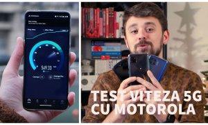 Test de viteză 5G cu motorola razr 5G, moto g 5G și moto g 5G plus în București