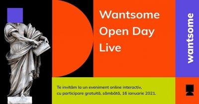Wantsome Open Day LIVE: școala de IT își prezintă cursurile pentru S1 2021
