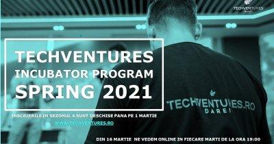 Incubatorul TechVentures 2021: înscrieri deschise pentru startup-uri românești