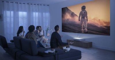 Samsung The Premiere: Proiector 4K short-throw cu diagonală mare a imaginii