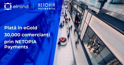 Netopia integrează plata cu eGold, criptomoneda blockchainului românesc Elrond