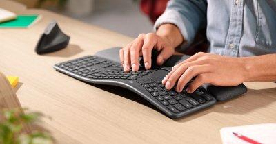 Tastatura ergonomică de la Logitech ca să nu rămâi cu sechele de la tastat