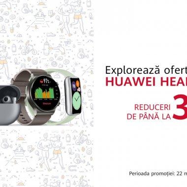 Huawei Health Week: oferte speciale și discount-uri la dispozitivele purtabile