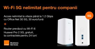 5G pentru companii. Orange anunță primul router Wi-Fi 5G pentru business-uri