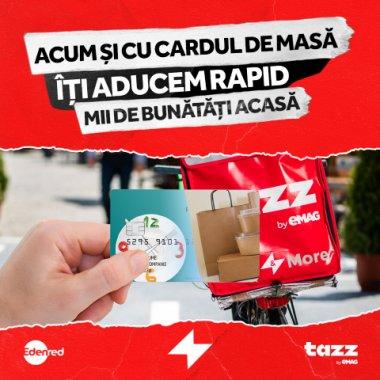 Parteneriat Tazz și Edenred: Plata cu carduri de masă în aplicația Tazz by eMAG