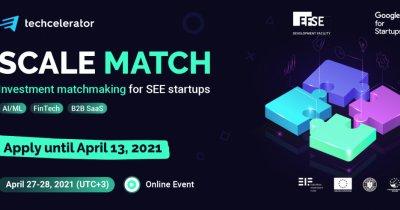Techcelerator se extinde în Europa de SE prin Scale Match: matchathon regional