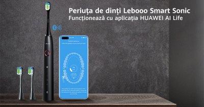Această periuță de dinți inteligentă de la Huawei promite 3 luni de autonomie