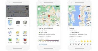 Google Maps îți spune care e calitatea aerului în orașele în care mergi