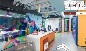Birourile de coworking Impact Hub Bucharest, vizitate virtual cu Bright Spaces
