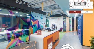 Birourile de coworking Impact Hub Bucharest, vizitate virtual cu Bright Spaces