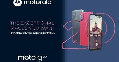 Motorola g20, lansat oficial: Cameră cvadruplă și ecran de 90Hz, preț competitiv