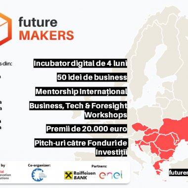 Future Makers, ediția a 4-a: Premii de 20.000 euro, 50 de start-ups din 11 țări