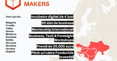 Future Makers, ediția a 4-a: Premii de 20.000 euro, 50 de start-ups din 11 țări