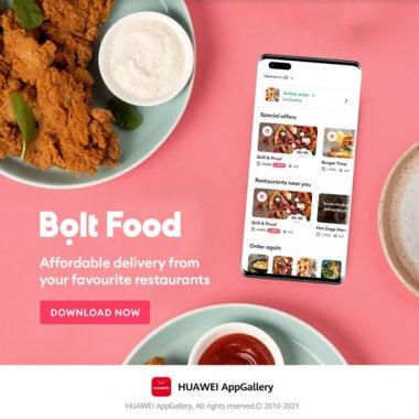 Aplicația Bolt Food, disponibilă oficial utilizatorilor de smartphone-uri Huawei