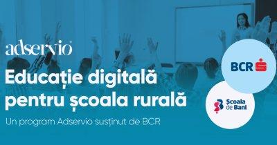 Adservio și Școala de Bani lansează un program de educație digitală