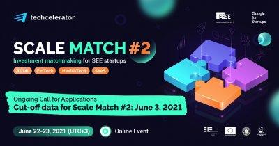 Înscrieri deschise la Scale Match. Startup-uri conectate cu investitori