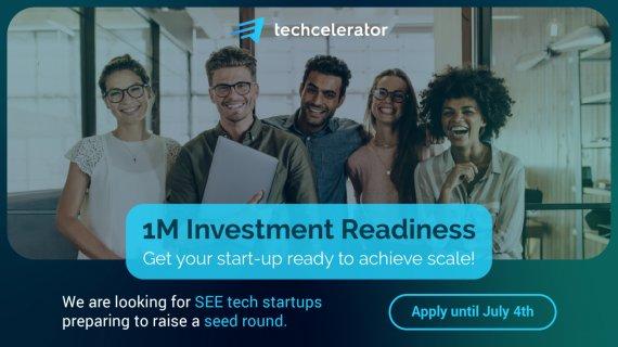 1M Investment (Techcelerator), program care pregătește startup-ul de investiție