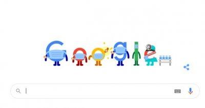 Google Doodle în România promovează azi campania de vaccinare anti-Covid 19