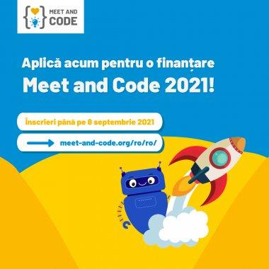 Meet and Code 2021, finanțări pentru ONG-uri: evenimente de programare & tech