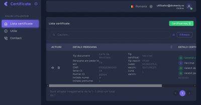 Certificat digital Covid - cum arată și cum se obține. Platforma a fost deschisă