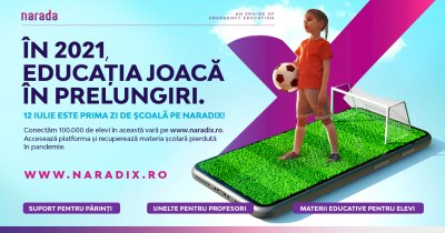 Naradix e platforma online unde elevii recuperează ce au pierdut în pandemie