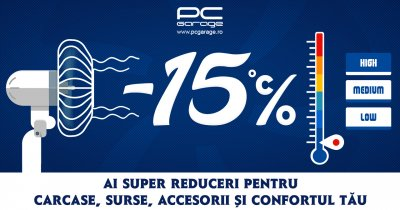 Campanie de reduceri la carcase, surse și ventilatoare PC la PCGarage