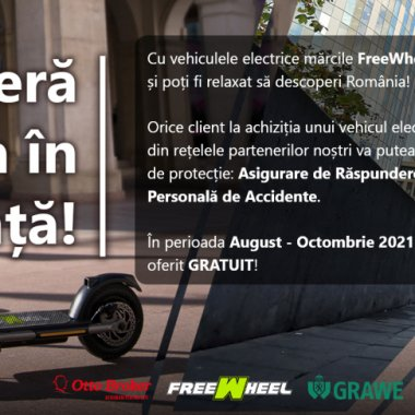 FreeWheel oferă asigurare gratuită pentru trotinete electrice și hoverboard-uri