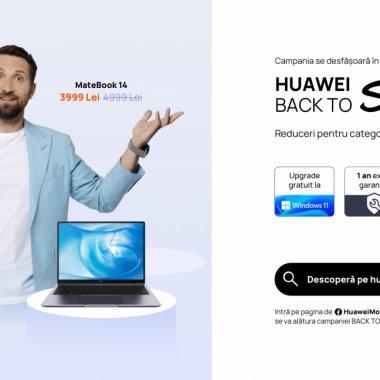Back to School: Huawei are reduceri de până la 2.000 lei la laptopurile MateBook