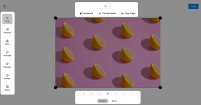 Planable permite editarea imaginilor pentru social media